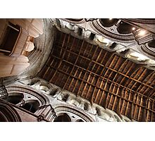Hexham Abbey Nave Timber Beams Photographic Print