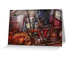 Steampunk - My transportation device Greeting Card