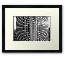 3d corner Framed Print
