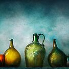 Bar - Bottles - Green bottles  by Mike  Savad