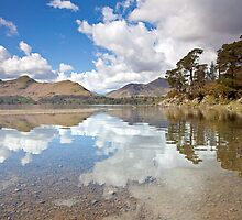 Cloud reflections at Friars Creag, Derwentwater by Martin Lawrence