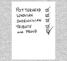 Potterhead, Whovian, Sherlockian, Tribute, and Proud Kids Clothes