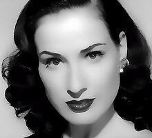 Dita Von Teese Digital Art Portrait by David Alexander Elder