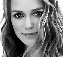 Keira Knightley Digital Art Portrait by David Alexander Elder