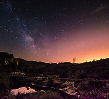 Bridge Under The Milky Way by J. Michael Runyon