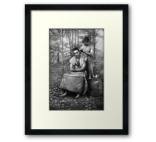 Barber - WWII - GI Haircut Framed Print