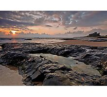 Sunrise over Bamburgh Castle, Northumberland Photographic Print