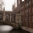 Bridge of Sighs, St. John's College, Cambridge by Magdalena Warmuz-Dent
