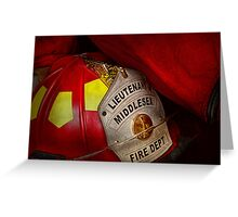 Fireman - Everyone loves red Greeting Card