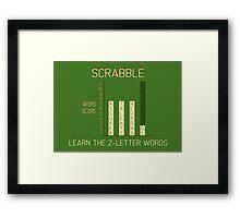 Scrabble Framed Print