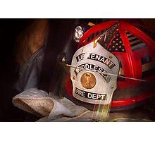 Fireman - The Lieutenants cap  Photographic Print