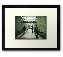 Walk With Caution Framed Print