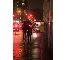 Couple In The Rain On John Street Photographic Print