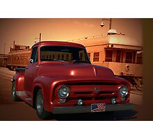 1955 Ford F100 Pickup Truck with 56' Grill. Photographic Print