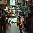 City lane Melbourne  by John  Spry