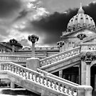 HARRISBURG CAPITOL IN BLACK AND WHITE by Diane Peresie