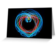 Double Pendulum with LEDs Greeting Card