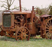 Tractor - Old John Deere Retired by Ruth Lambert