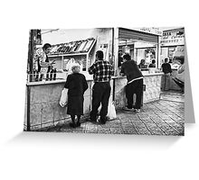 Please, Take A Number and Wait Your Turn. Greeting Card