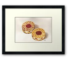 Jammy Dodgers Framed Print