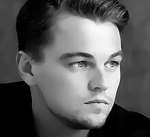 Leonardo Dicaprio Digital Art Portrait by David Alexander Elder