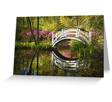 Charleston SC Magnolia Plantation Spring Blooming Azalea Flowers Garden Greeting Card