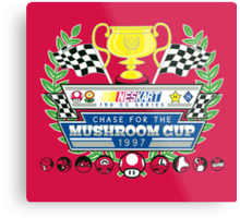 Chase for the Mushroom Cup Metal Print