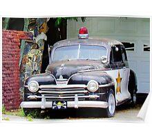 Vintage Police Car Poster