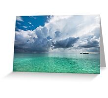 Get Lost. Maldivian Scenery Greeting Card