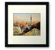 Barcelona Park Guell Framed Print