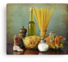 Aglio, olio peperoncino (garlic, oil, chili) noodles Canvas Print