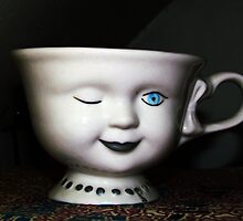 Winking Teacup by Nevermind the Camera Photography