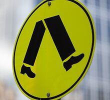 pedestrian walk sign by mark burban
