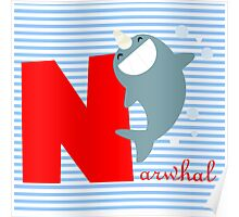 n for narwhal Poster