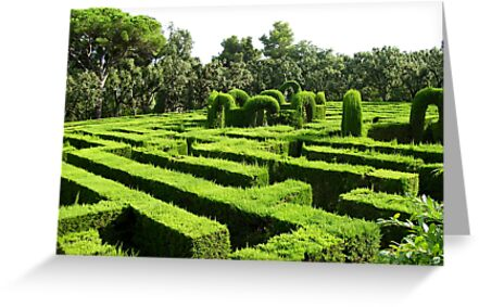 Barcelona's Garden Labyrinth by ChrisCiolli