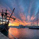 Port Vell Sunrise by Yhun Suarez