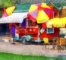 Hot Dog Stand in Mall by Susan Savad