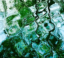 Water Ripples and Reflections Abstract by Natalie Kinnear