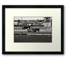 Nostalgia Drag Racing Framed Print