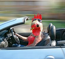 Chick in a Convertible by Sally Green