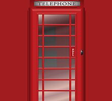 London Red Phone CallBox Prints / iPad Case / iPhone 5 Case / iPhone 4 Case  / Samsung Galaxy Cases  by CroDesign