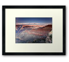 Sunset at Pipe Creek Vista, Grand Canyon South Rim Framed Print
