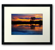 April Sunset over the River Tees, at Broken Scarr. Framed Print