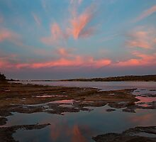 Pink Morning - Murchison River - Kalbarri  by John Pitman