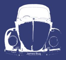 VW Beetle Shirt - White James Bug - personalised by melodyart