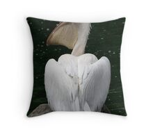 Great White Pelican Throw Pillow