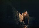 Prison Gateway at night Paris 1957 09170011   by Fred Mitchell