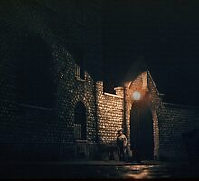 Prison Gateway at night Paris 1957 09170011   by Fred Mitchell