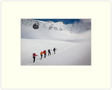 Mount Rainier Snowshoers by Inge Johnsson