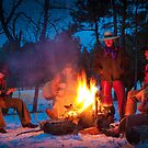 Cowboy Campfire by Inge Johnsson